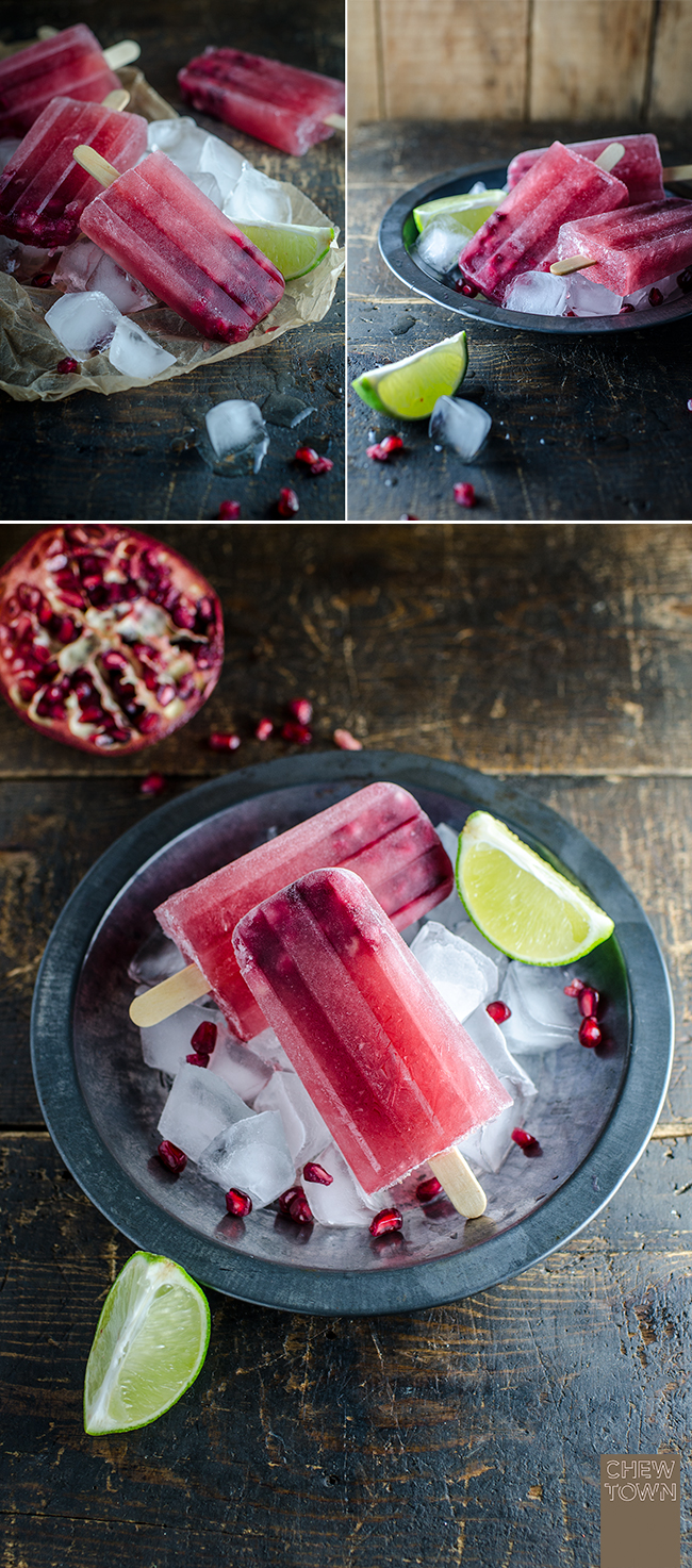 Pomegranate and Lime Ice Pops | Chew Town Food Blog