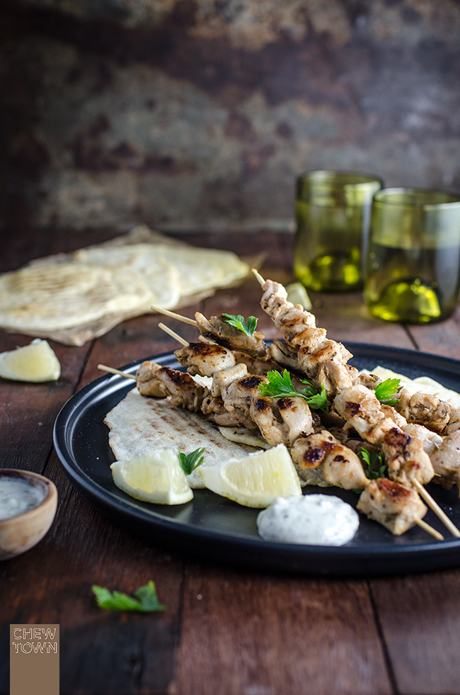 Spiced Kebabs with Lemon Flat Bread | Chew Town Food Blog