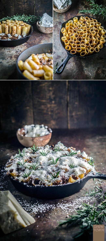 Lamb & Mushroom Honeycomb Pasta (Pasta Verticale) | Chew Town Food Blog