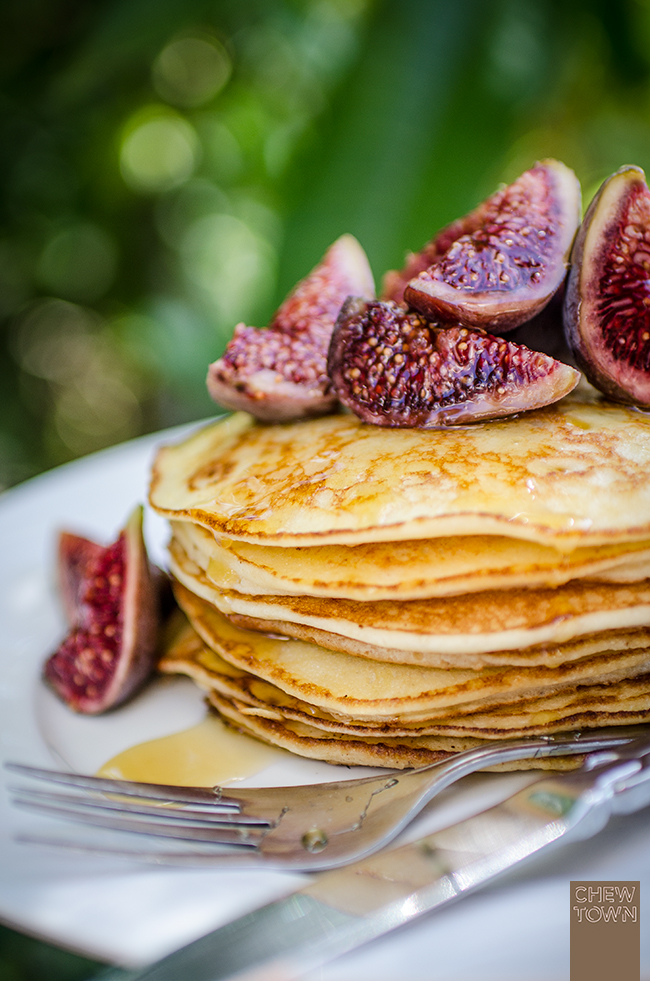 Ricotta and Lemon Pancakes with Fresh Figs | Chew Town Food Blog