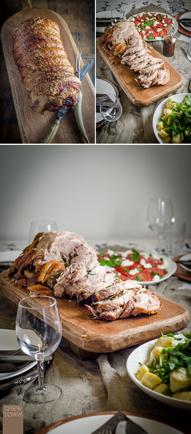 Italian Porchetta (Italian Roast Pork) | Chew Town Food Blog