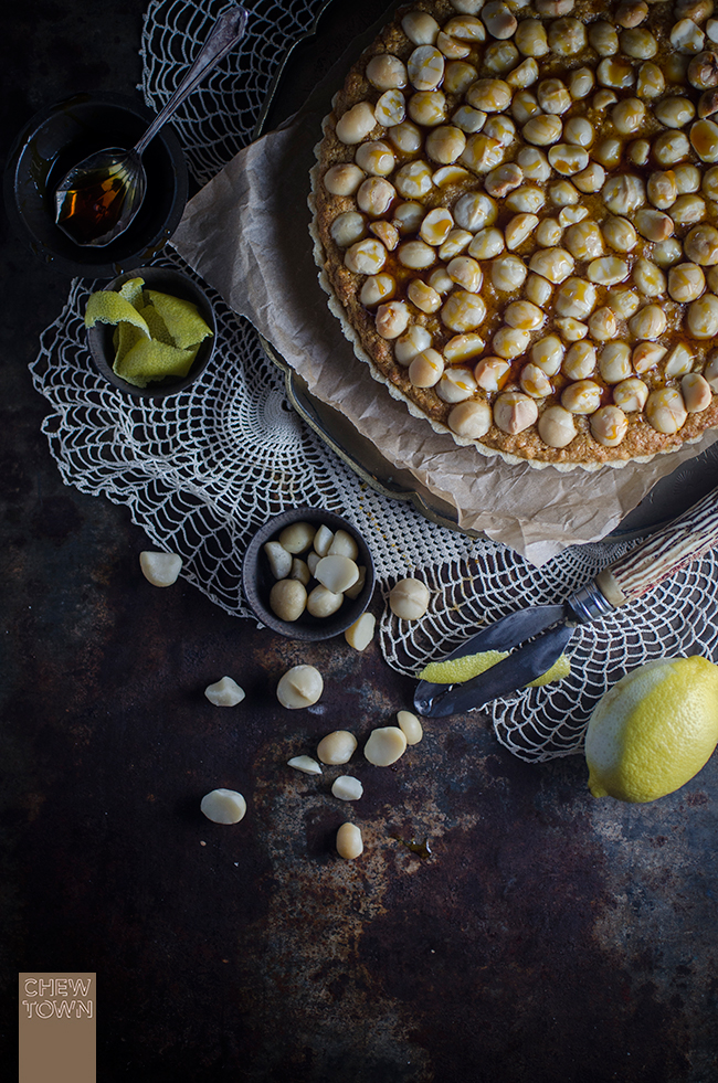 Macadamia and Goldne Syrup Tart Recipe | Chew Town Food Blog