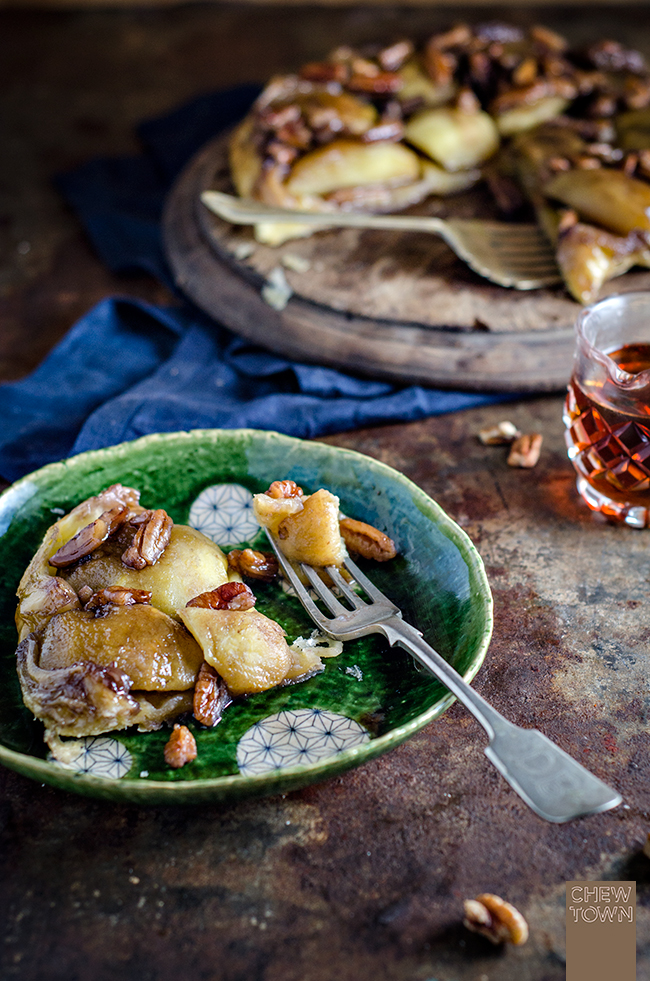 Apple Maple and Pecan Tarte Tatin | Chew Town Food Blog