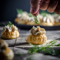 Smoked Salmon Pate Canapes