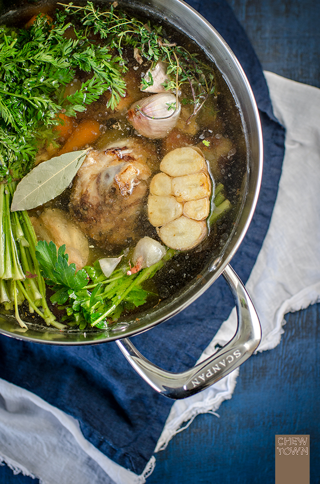 Homemade Beef Stock Recipe | Chew Town Food Blog
