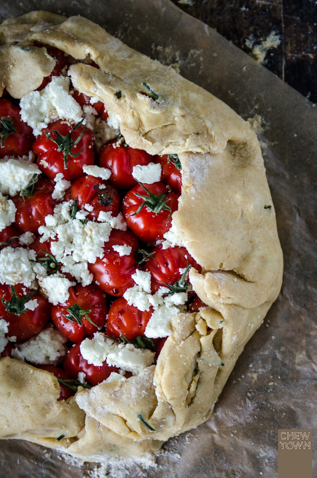 Wholemeal Tomato Galette with Pesto and Ricotta | Chew Town Food Blog