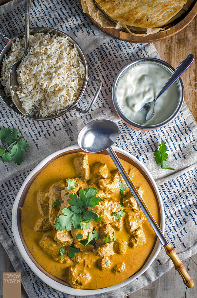 Pork Tikka Masala Curry | Chew Town Food Blog
