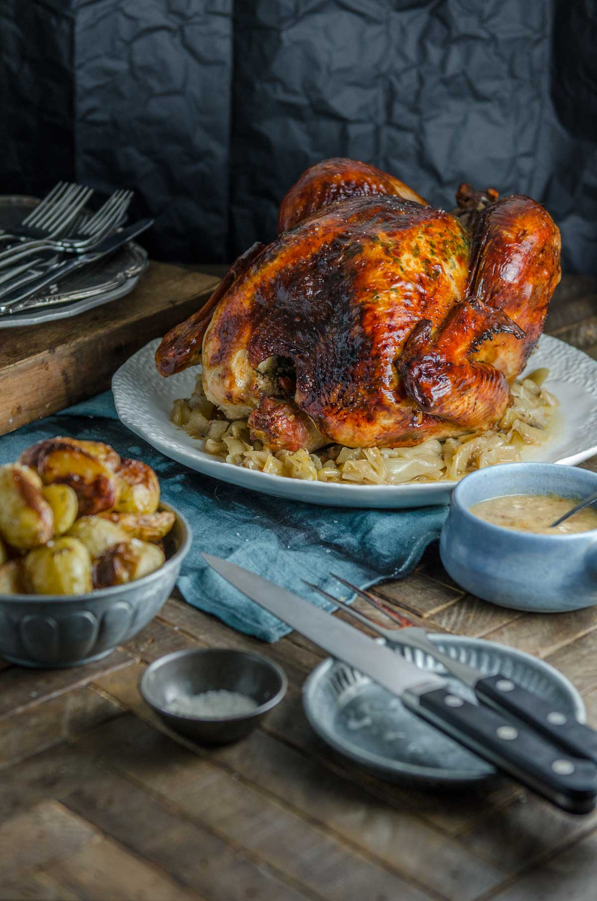 Christmas Maple Orange Roast Turkey | Chew Town Food Blog