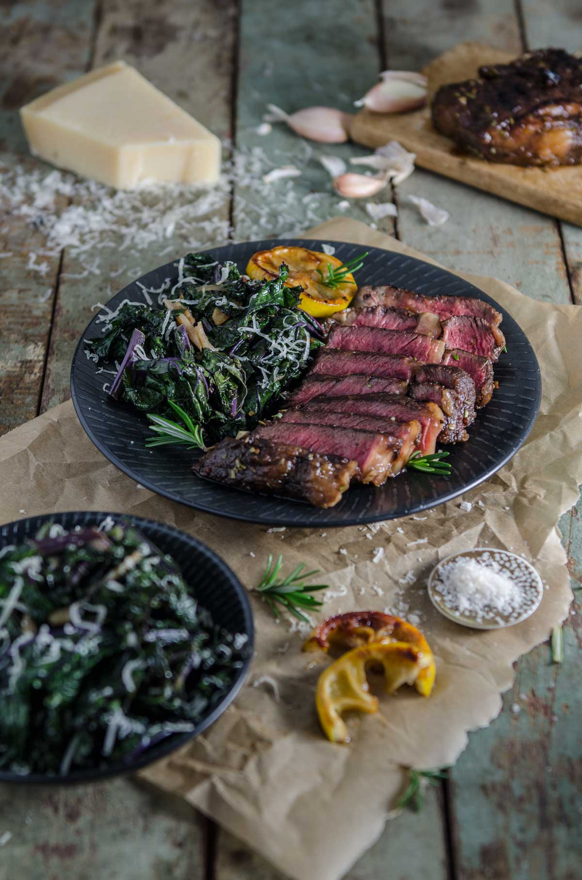 Balsamic and Rosemary Steak with Sautéed Kale | Chew Town Food Blog