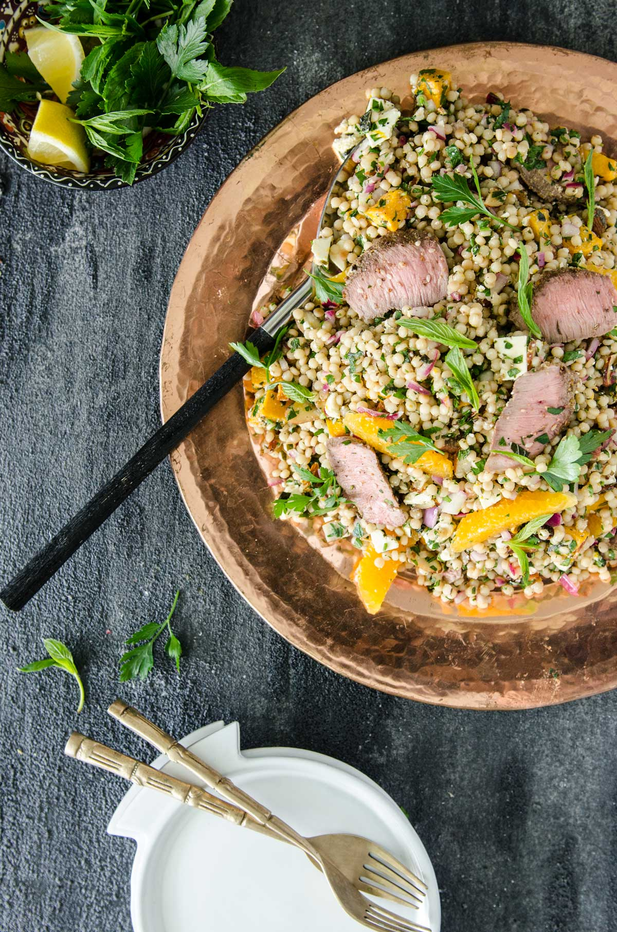 Choosing The Right Knife for the Task | Cous Cous, Pumpkin and Lamb Salad - Chew Town Food Blog
