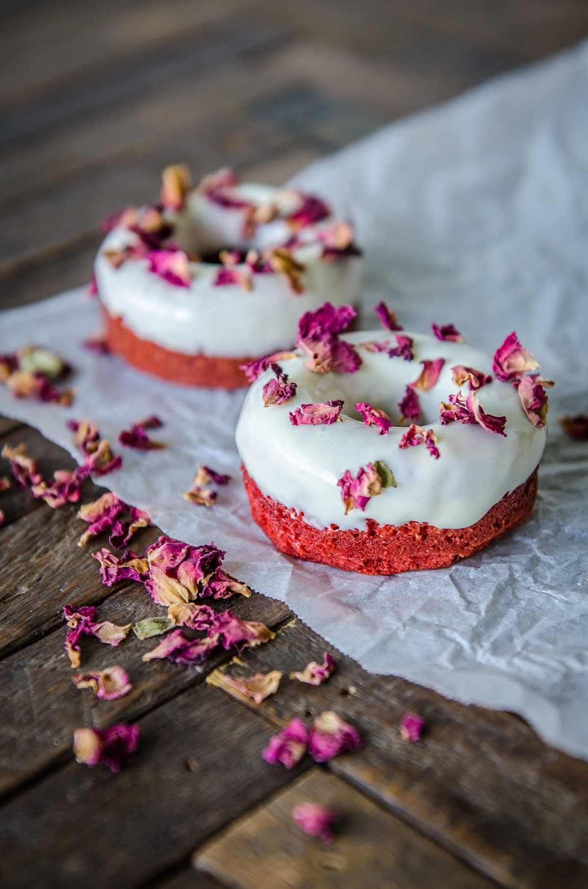 Valentine's Day Red Velvet Doughnuts | Chew Town Food Blog