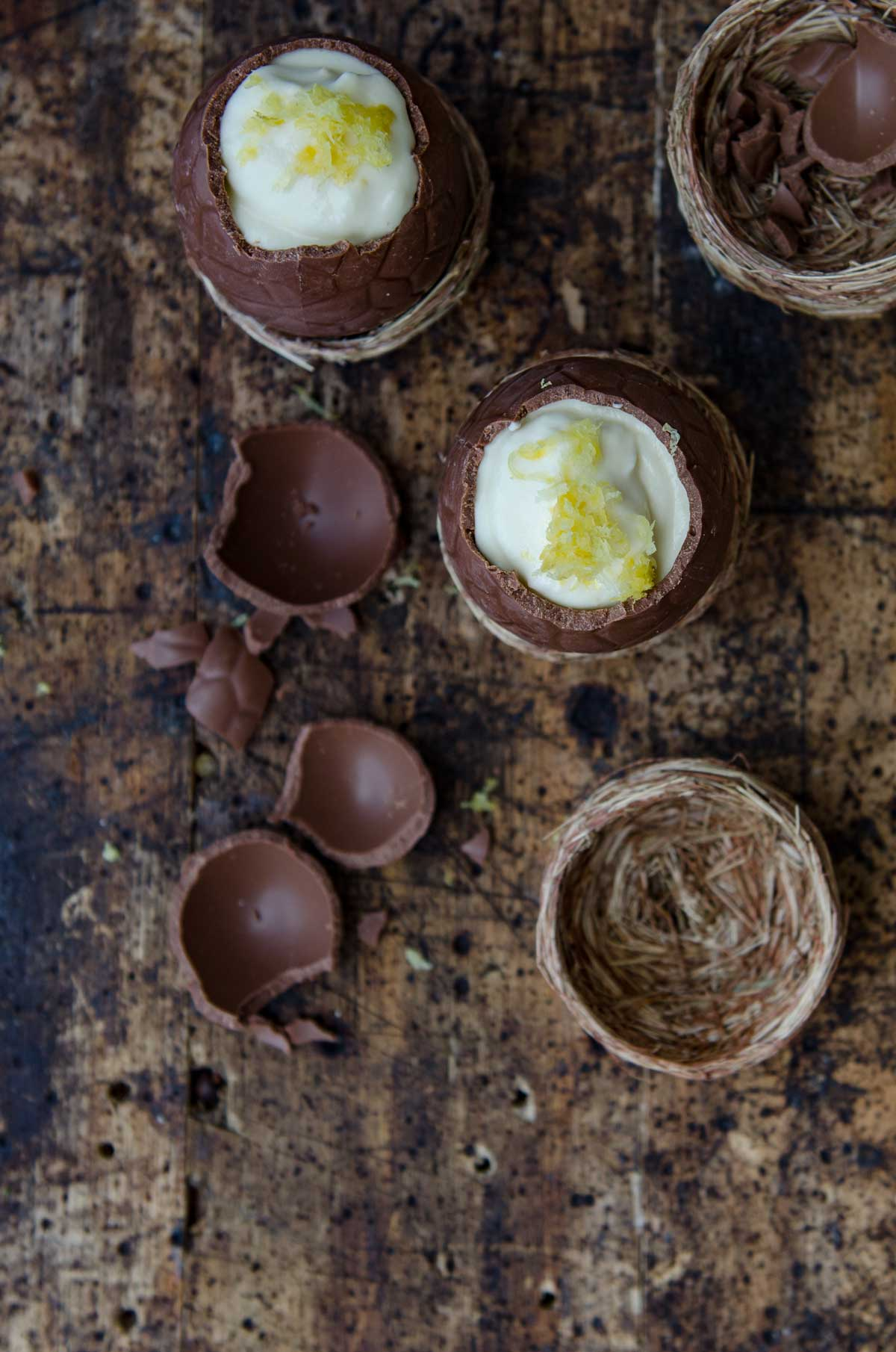 Lemon Mousse Filled Easter Eggs Recipe | Chew Town Food Blog