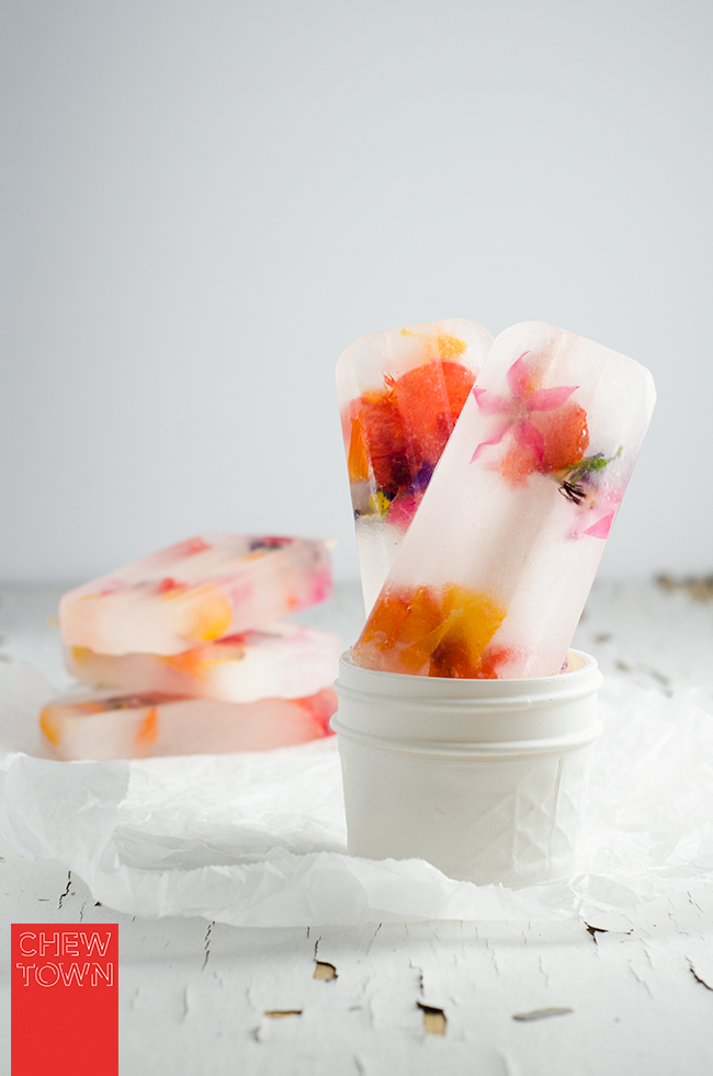 Edible Flower and Elderflower Popsicles | Chew Town Food Blog