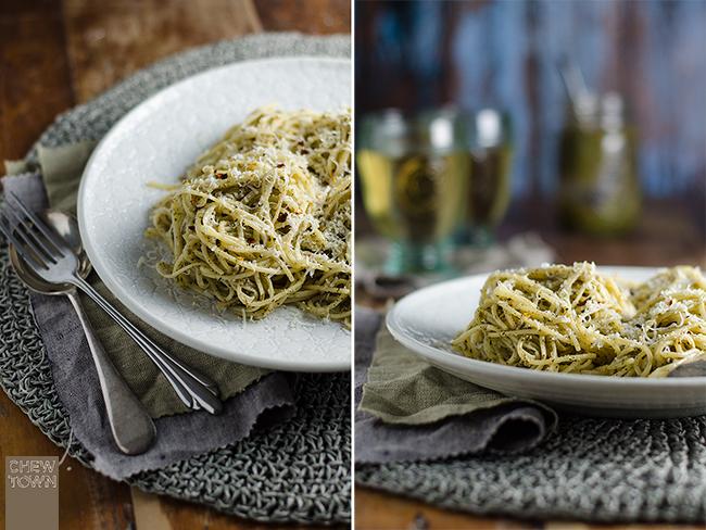 Mint-and-Walnut-Pesto-Pasta