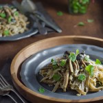 Hazelnut Pasta with Creamy Mushrooms