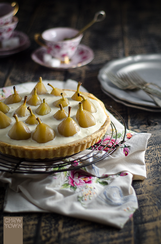 Poached-Pear-and-Mascarpone-Tart