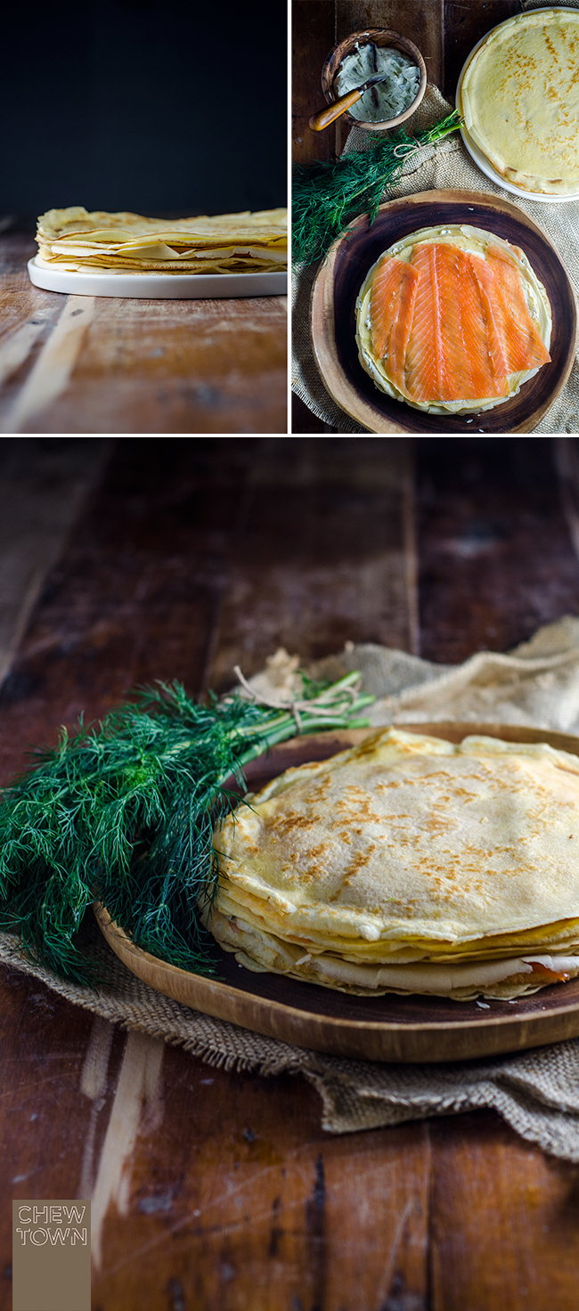 Smoked Salmon Crêpe Cake | Chew Town Food Blog