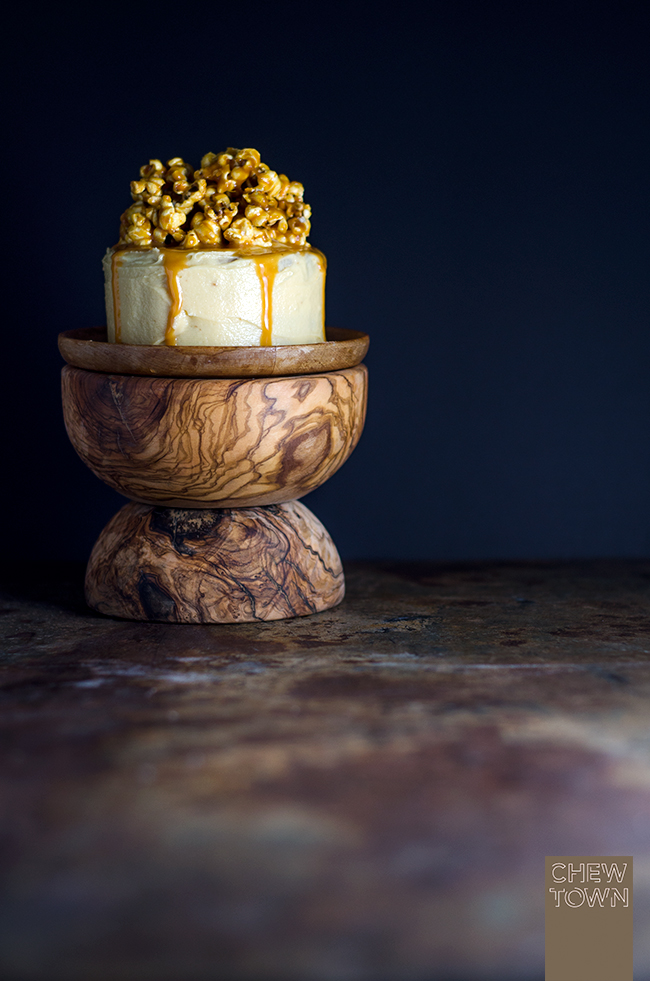 Popcorn and Salted Cajeta Cake | Chew Town Food Blog