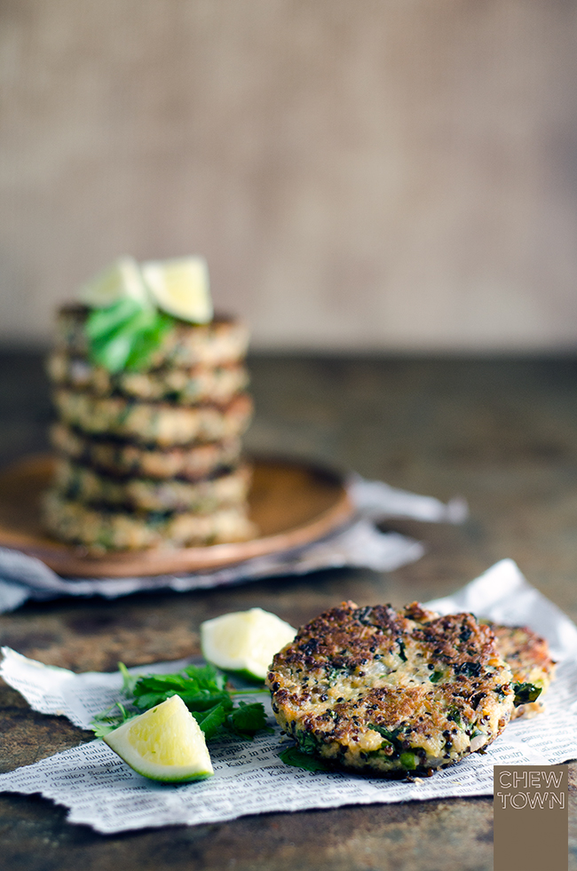 Tuna, Choy Sum and Quinoa Patties | Chew Town Food Blog