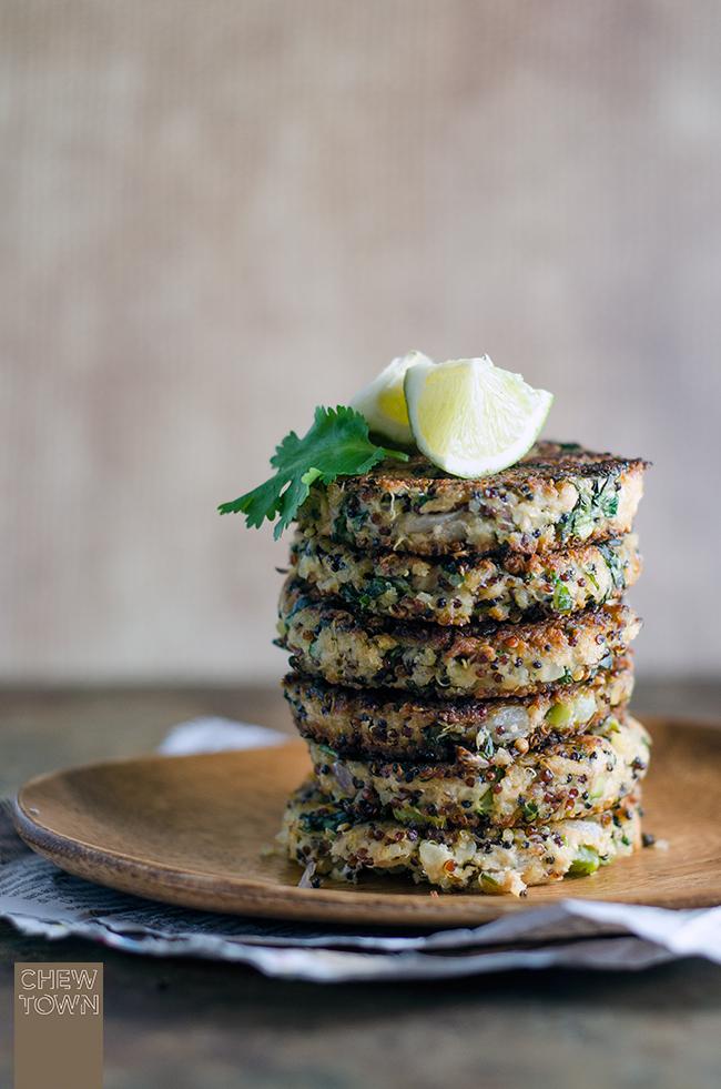 Tuna, Choy Sum and Quinoa Patties   Chew Town Food Blog