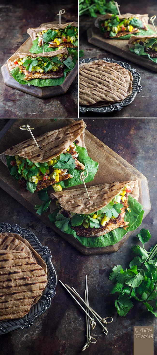 Blackened Barramundi with Spelt Flatbread | Chew Town Food Blog