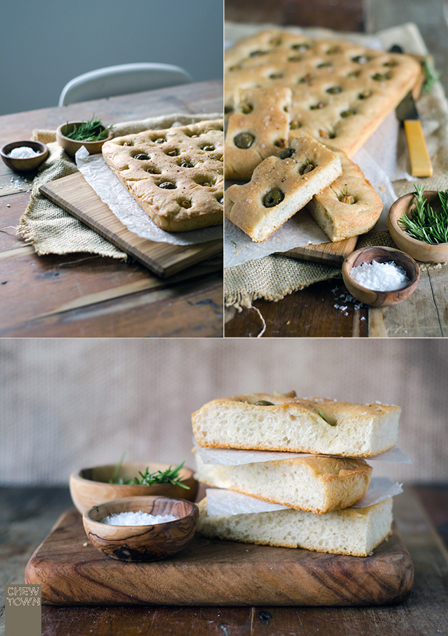 Roast Garlic and Olive Focaccia | Chew Town Food Blog