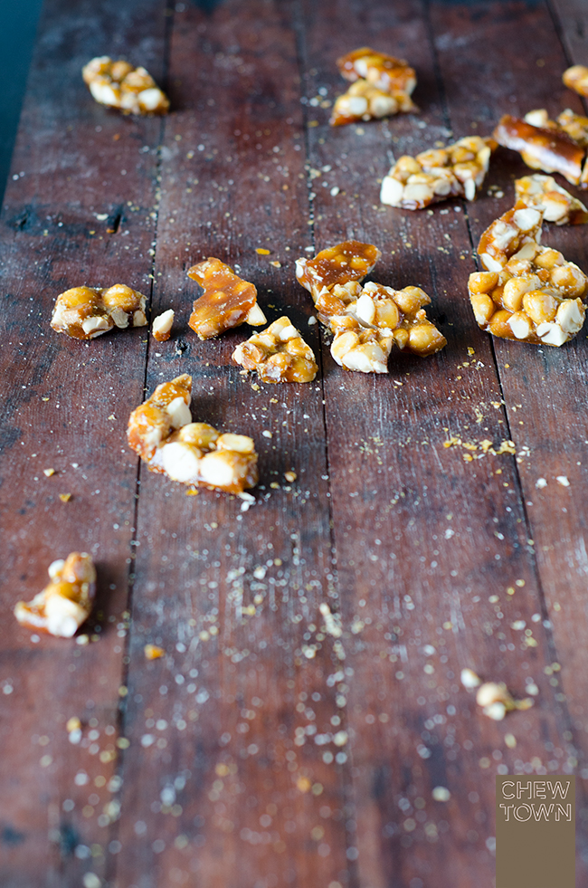 Chocolate Coated Macadamia Brittle | Chew Town Food Blog