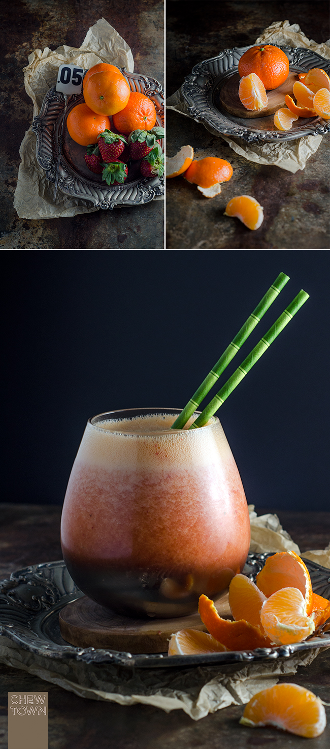 Tangerine and Strawberry Smoothie | Chew Town Food Blog