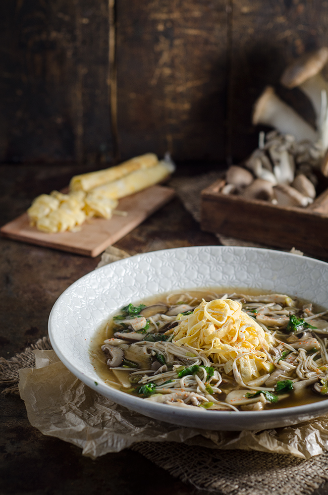 Oriental Mushroom Soup With Egg Noodles Chew Town Food