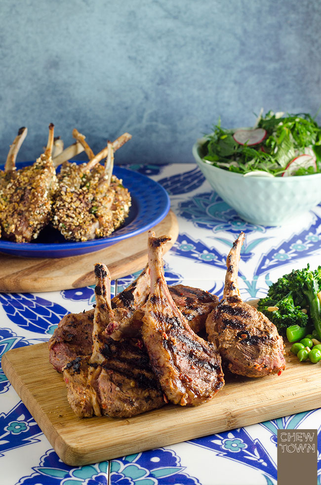 Popcorn Crumbed Lamb Cutlets and Harissa Marinated Lamb Cutlets | Chew Town Food Blog