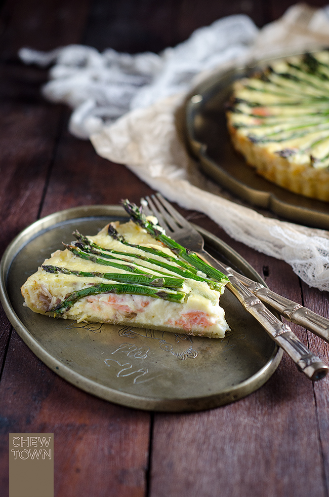 Asparagus and Smoked Salmon Tart | Chew Town Food Blog