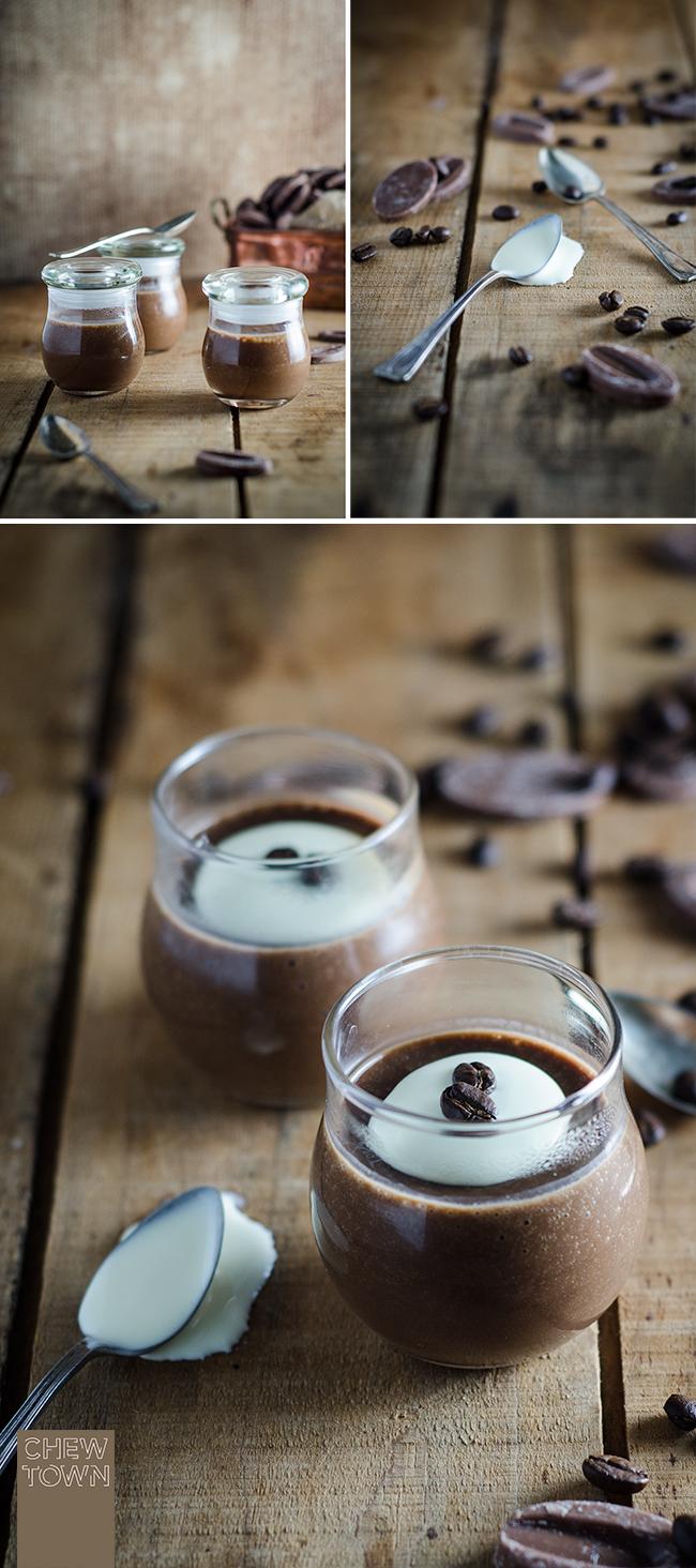 Boozy Mocha Pots de Creme Recipe | Chew Town Food Blog
