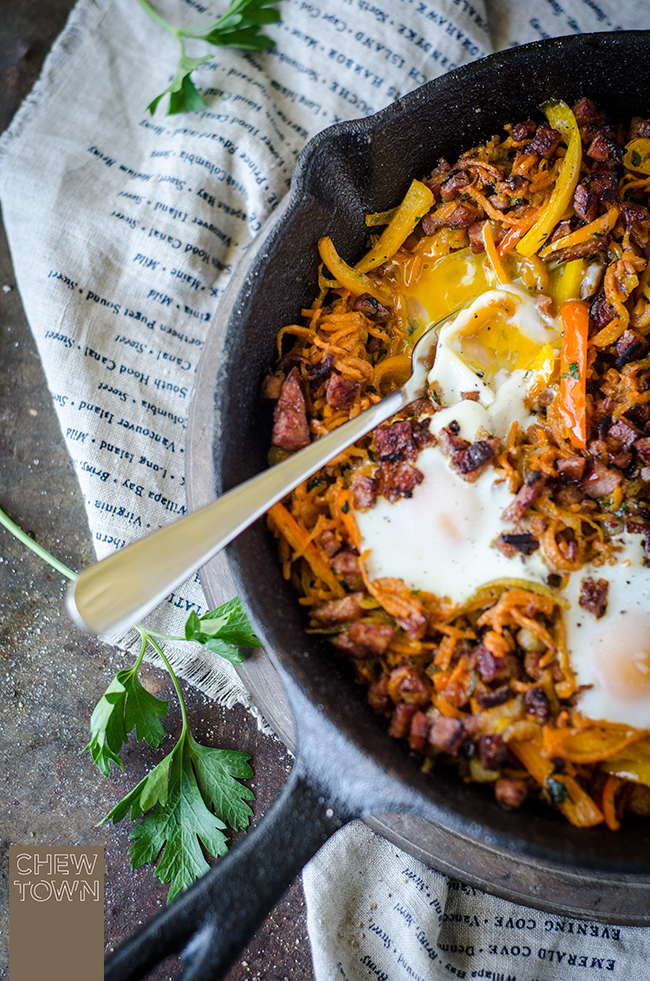 Healthier chorizo and sweet potato breakfast hash chew town food blog forumfinder Choice Image