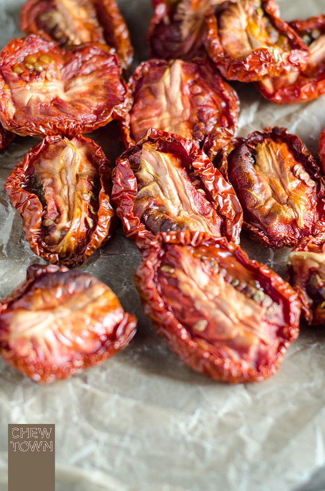Semi-Dried Tomatoes Recipe | Chew Town Food Blog