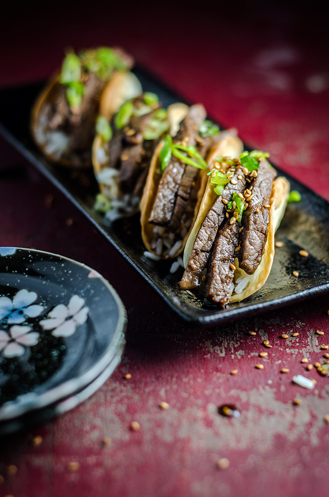 Beef Teriyaki Tacos | Chew Town Food Blog