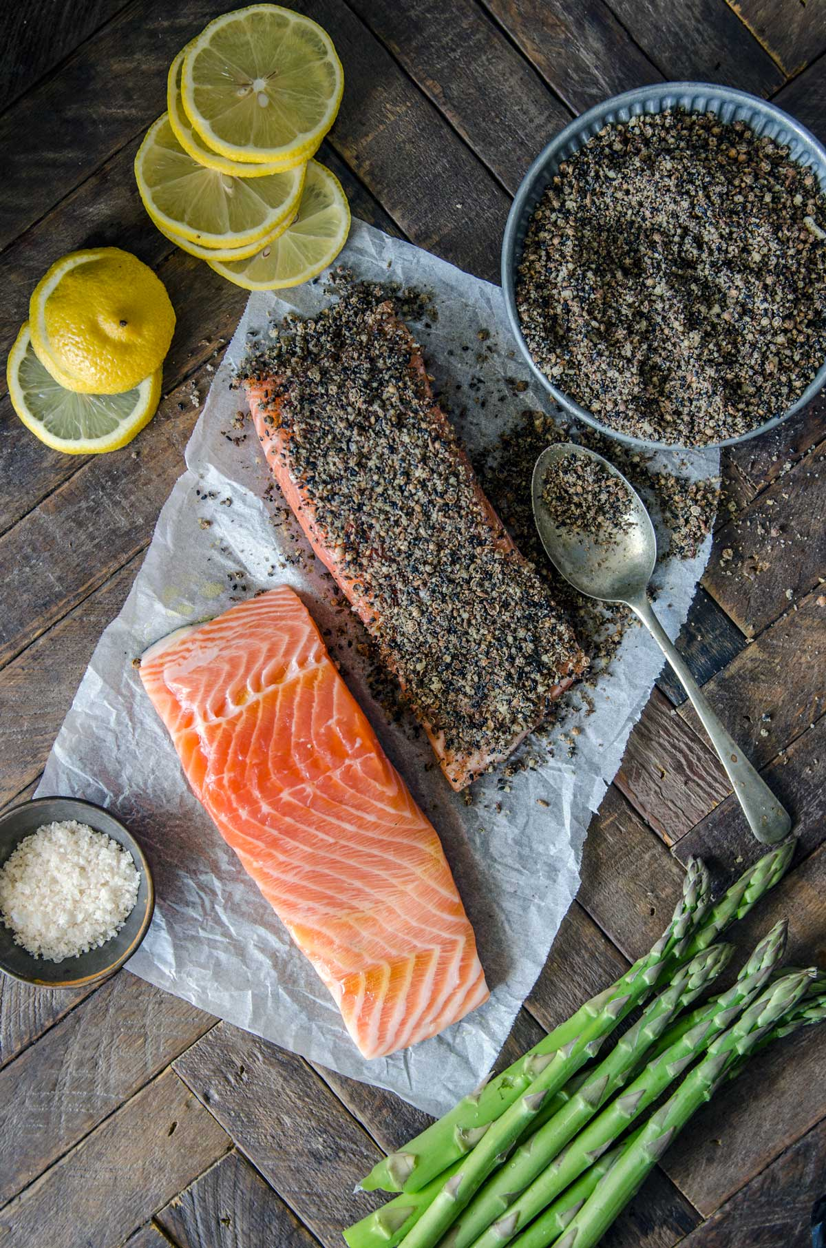 5 Ingredient Baked Dukkah Salmon Sheet Pan Meal | Chew Town Food Blog