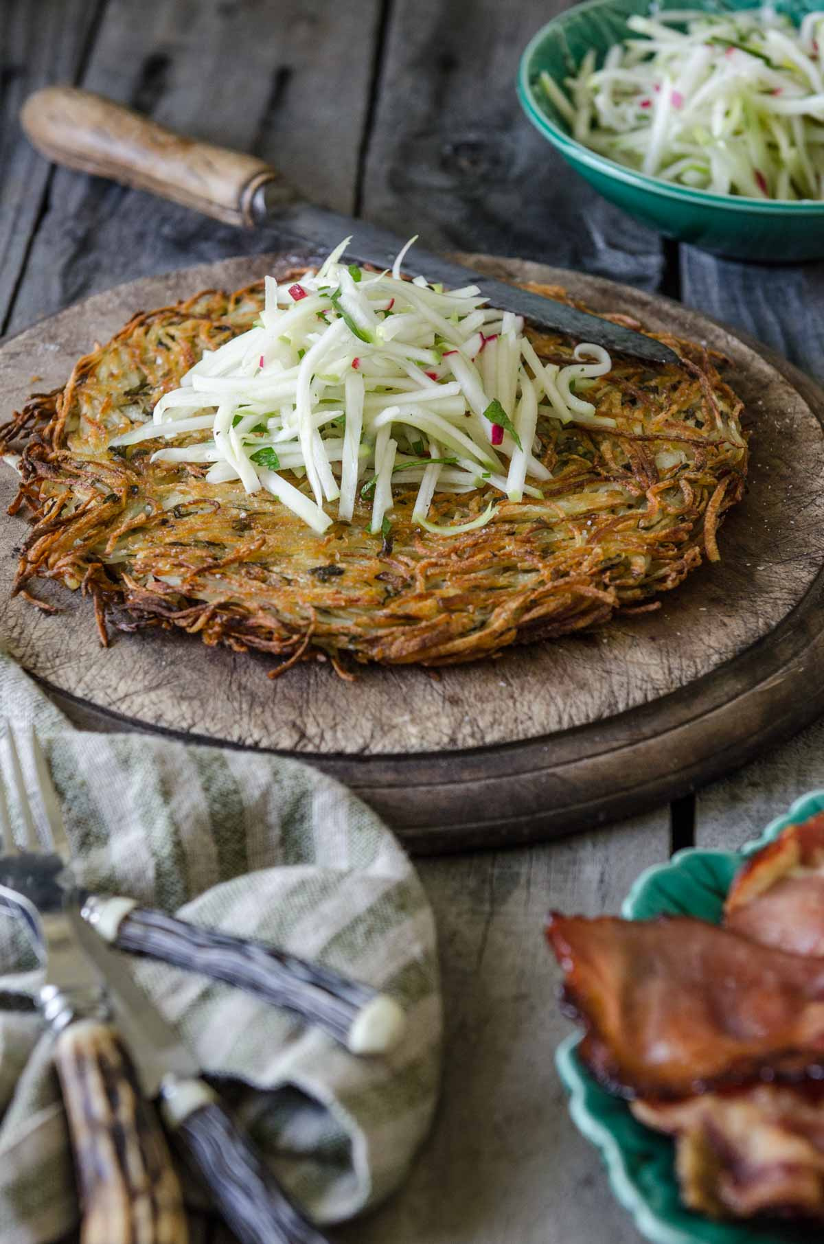 Potato Rösti with Apple and Fennel Slaw | Chew Town Food Blog