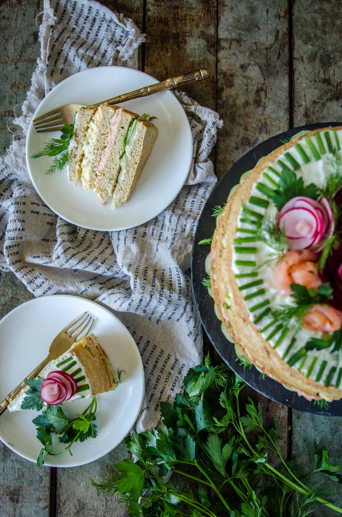 Smörgåstårta | Swedish Sandwich Cake | Chew Town Food Blog