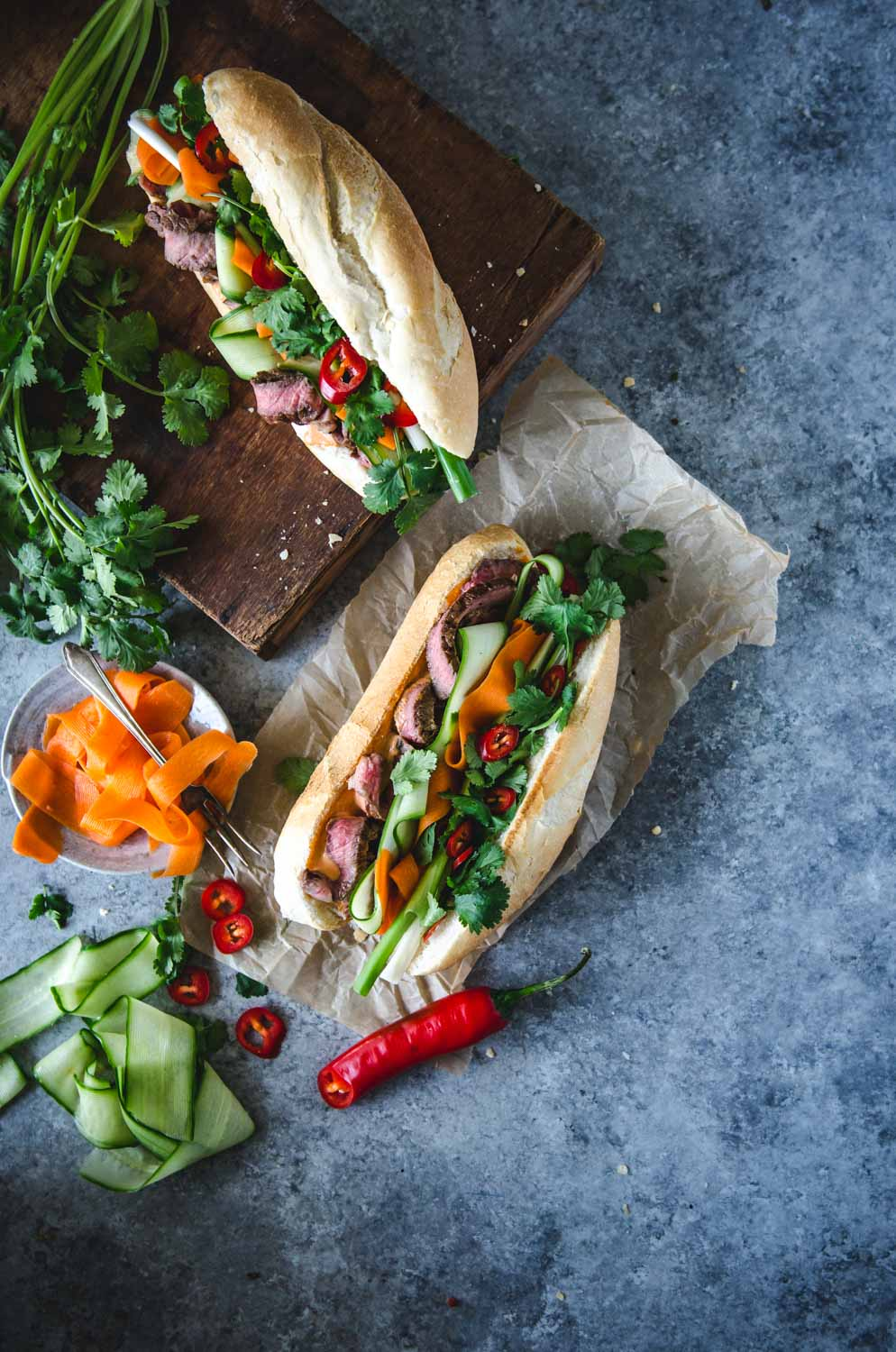 Nước chấm Steak Bánh Mì | Vietnamese Marinated Steak Sandwich | Chew Town Food Blog