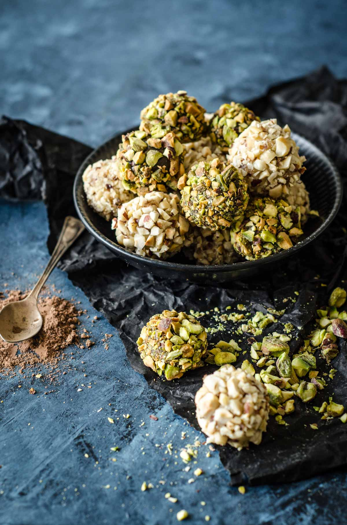 Brigadeiros | Choc Mint Pistachio and Vanilla Hazelnut Brazilian Fudge Balls