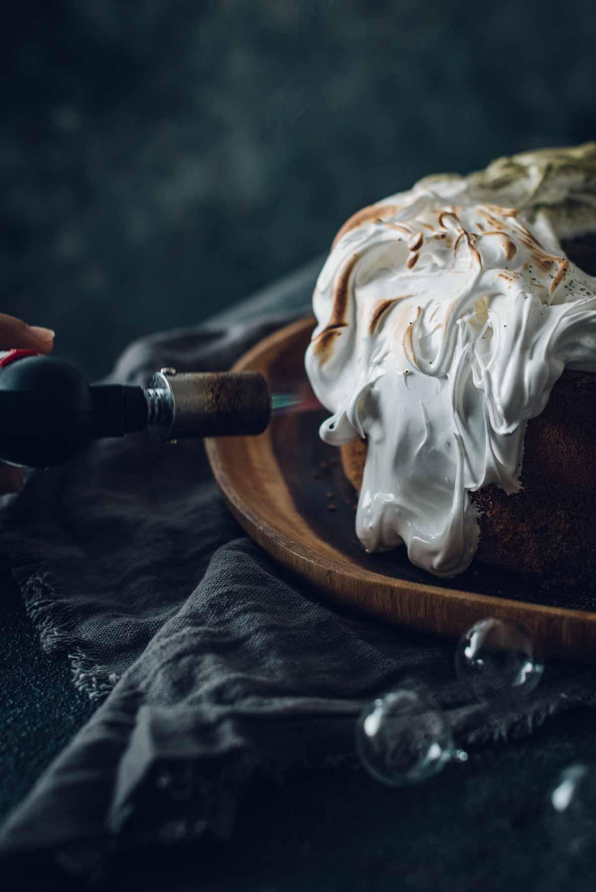 Black Sesame and Green Tea Chiffon Cake | Chew Town Food Blog