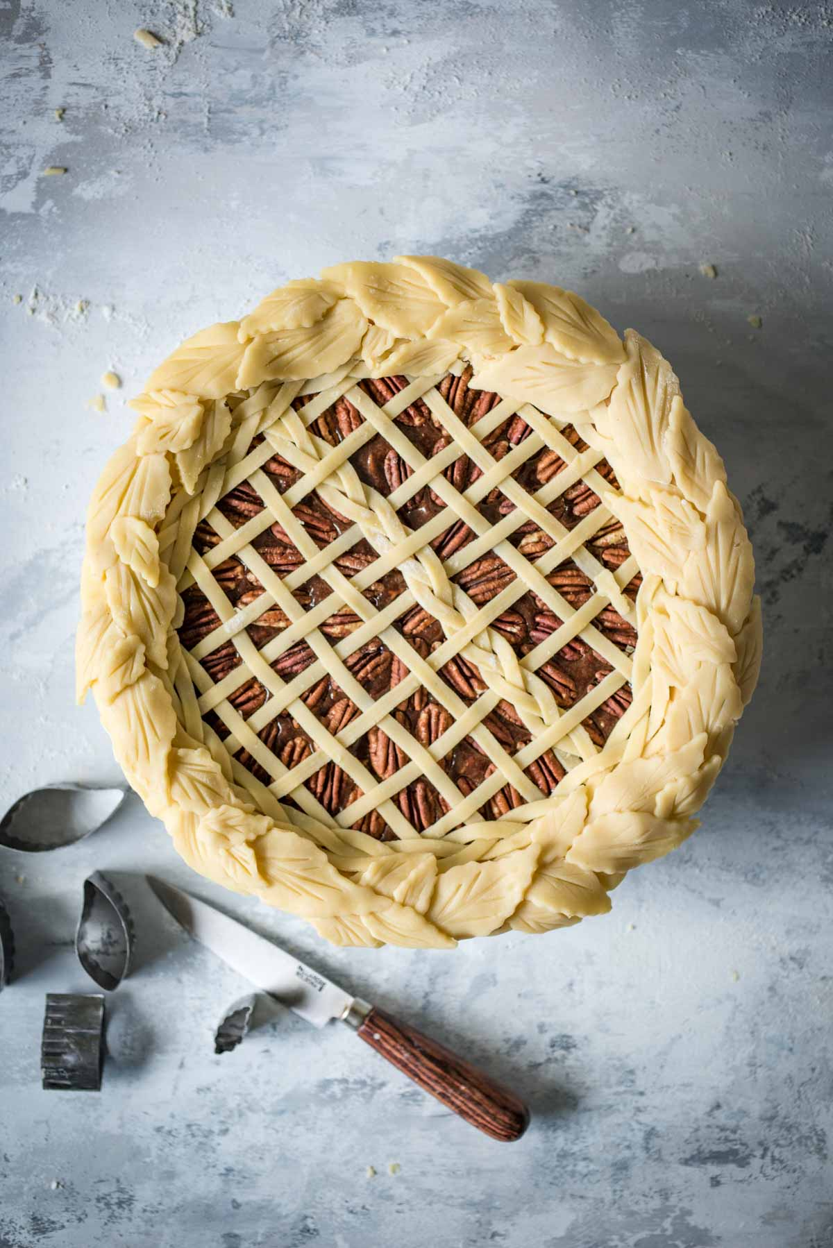 Chocolate Pecan Lattice Pie | Chew Town Food Blog
