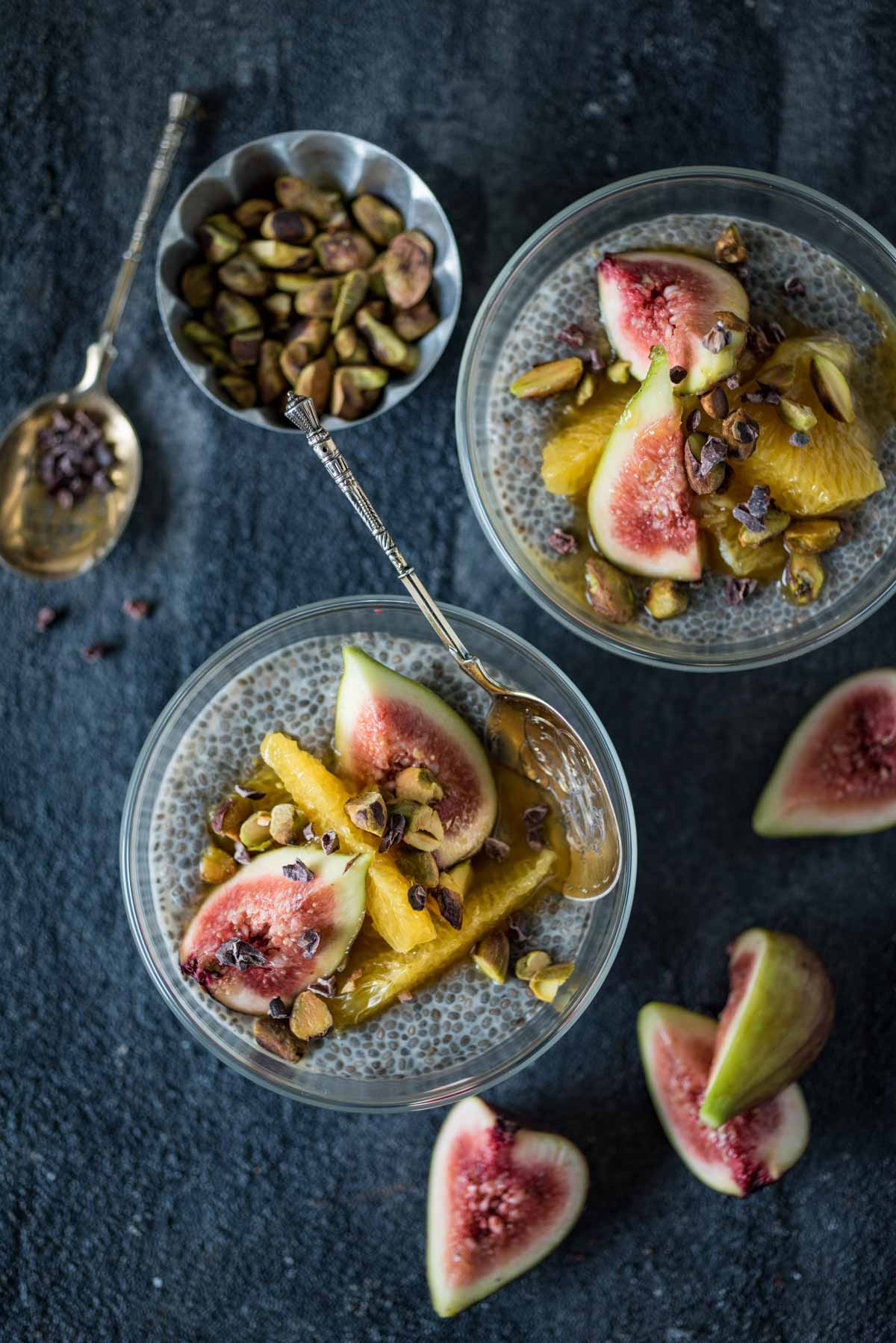 Orange Fig and Cardamom Chia Seed Pudding | Chew Town Food Blog