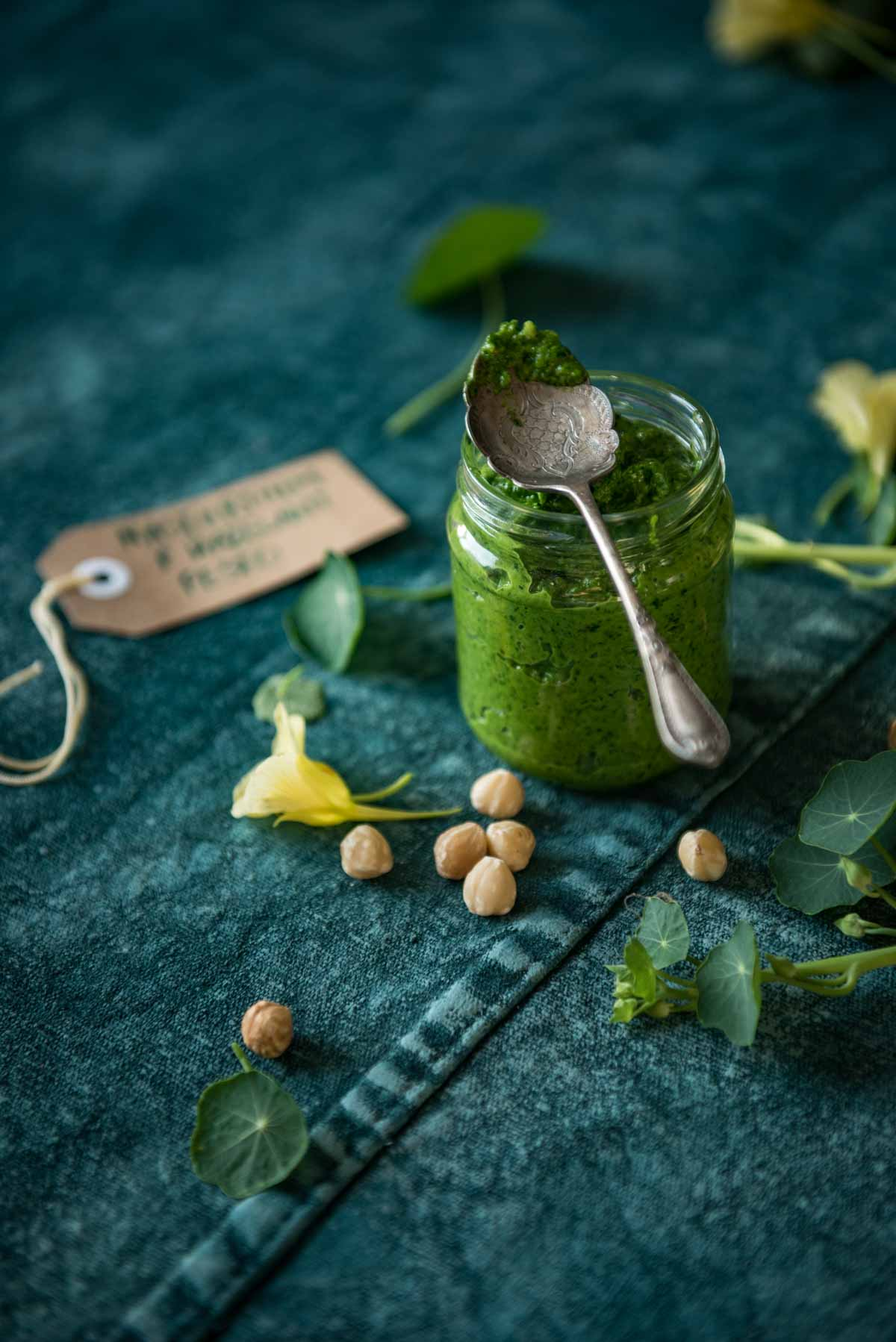 Nasturtium and Hazelnut Pesto | Chew Town Food Blog