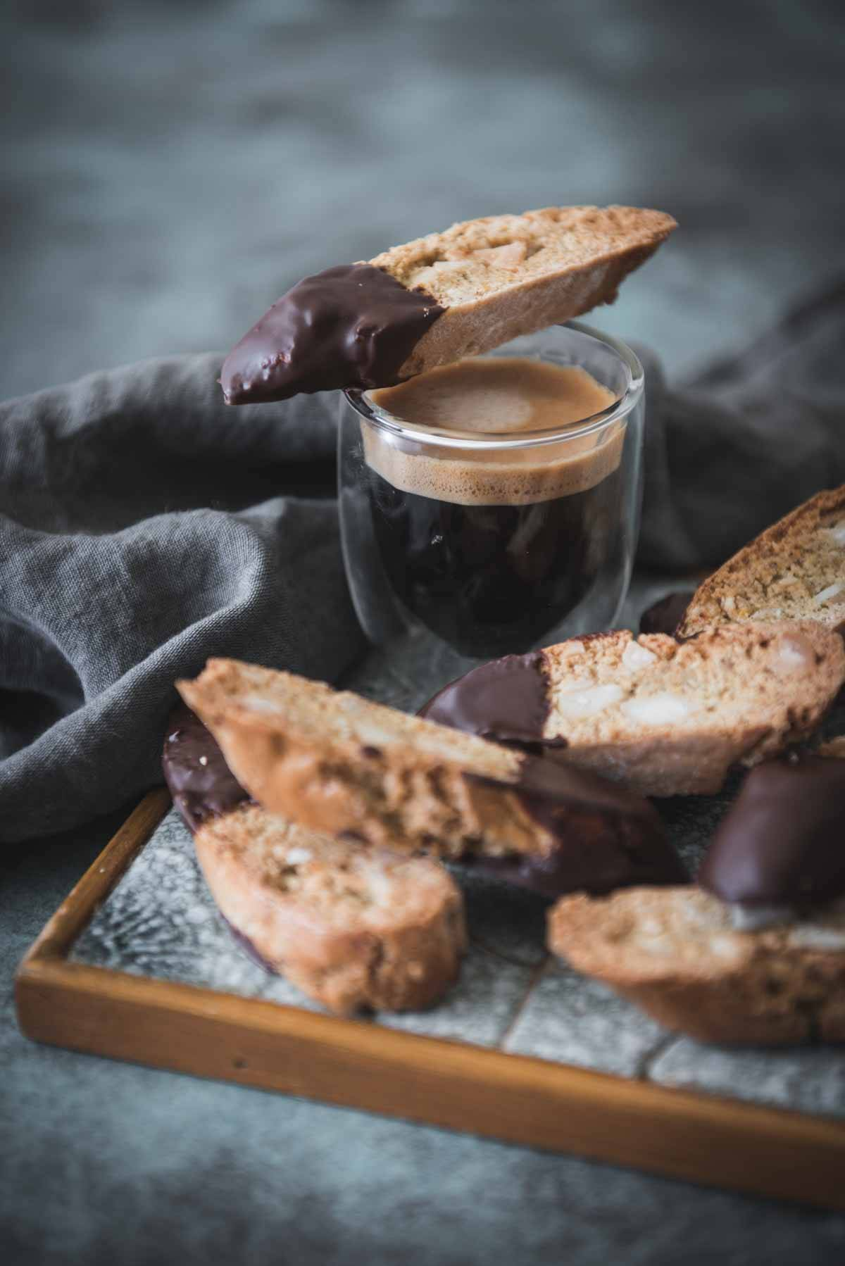 Chocolate Cardamom and Macadamia Cantucci | Chew Town Food Blog