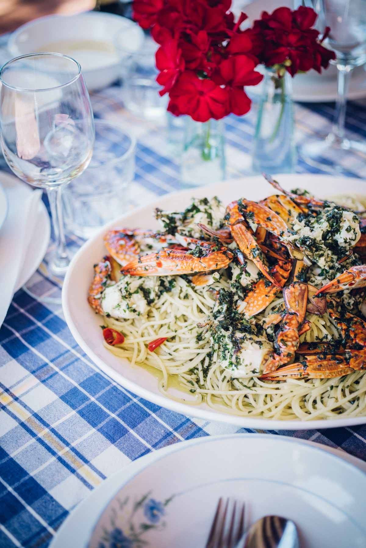 Blue Swimmer Crab Pasta | Chew Town Food Blog