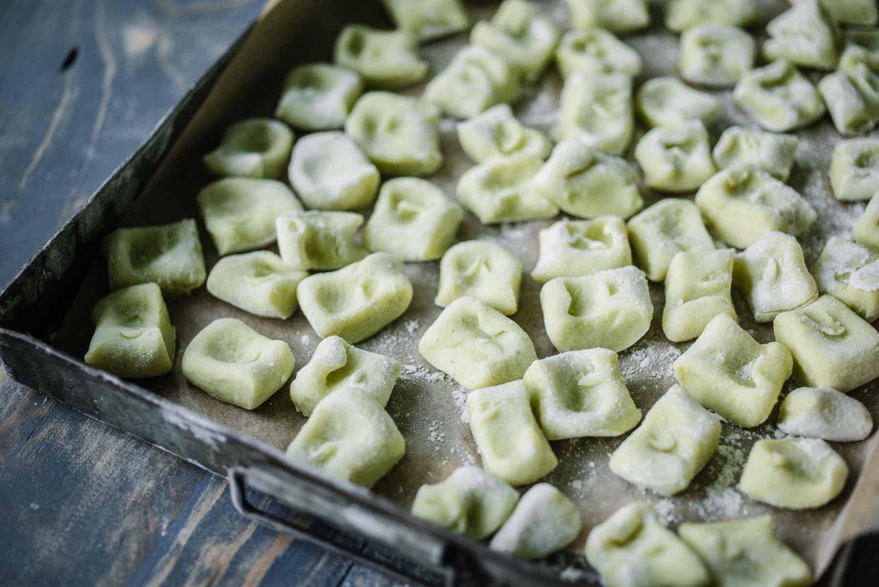 Asparagus Gnocchi with Burnt Butter, Pea and Truffle | Chew Town Food Blog