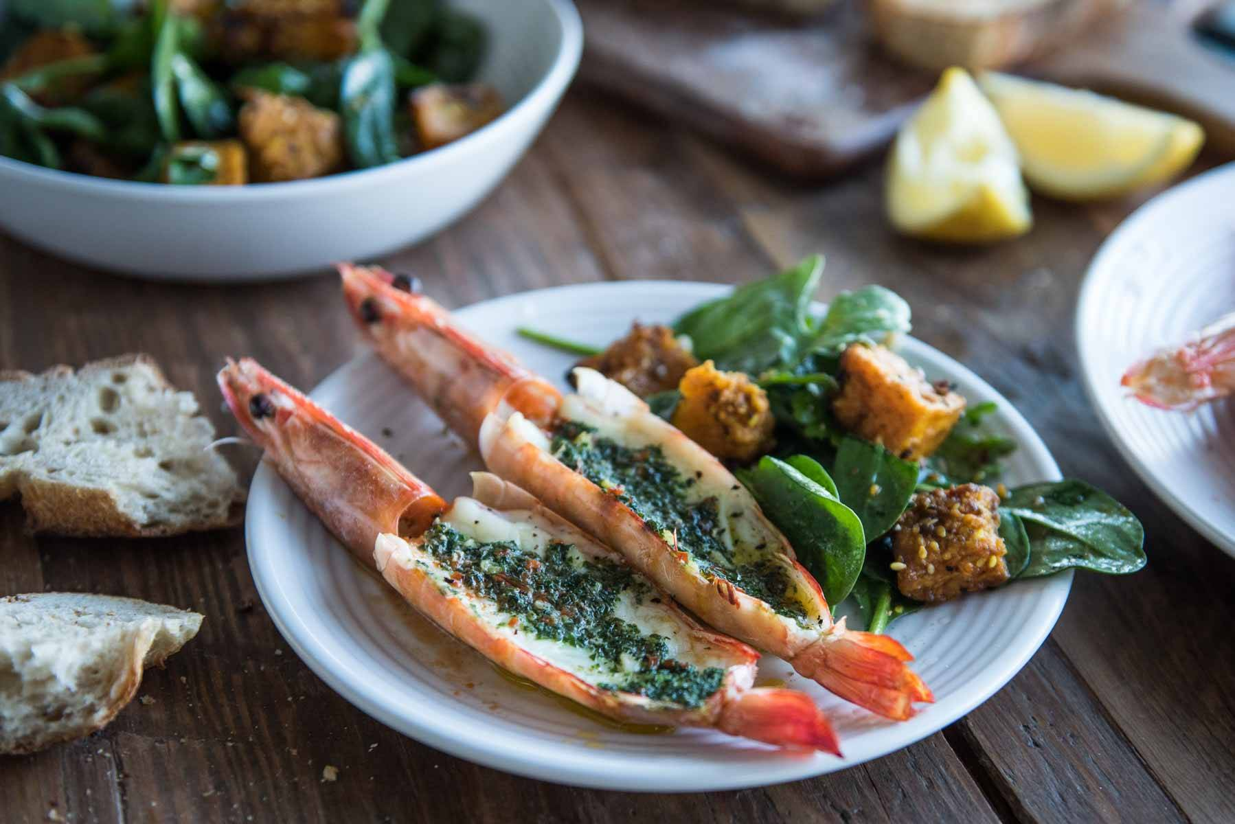 Butterflied Garlic and Herb Grilled Prawns | Chew Town Food Blog