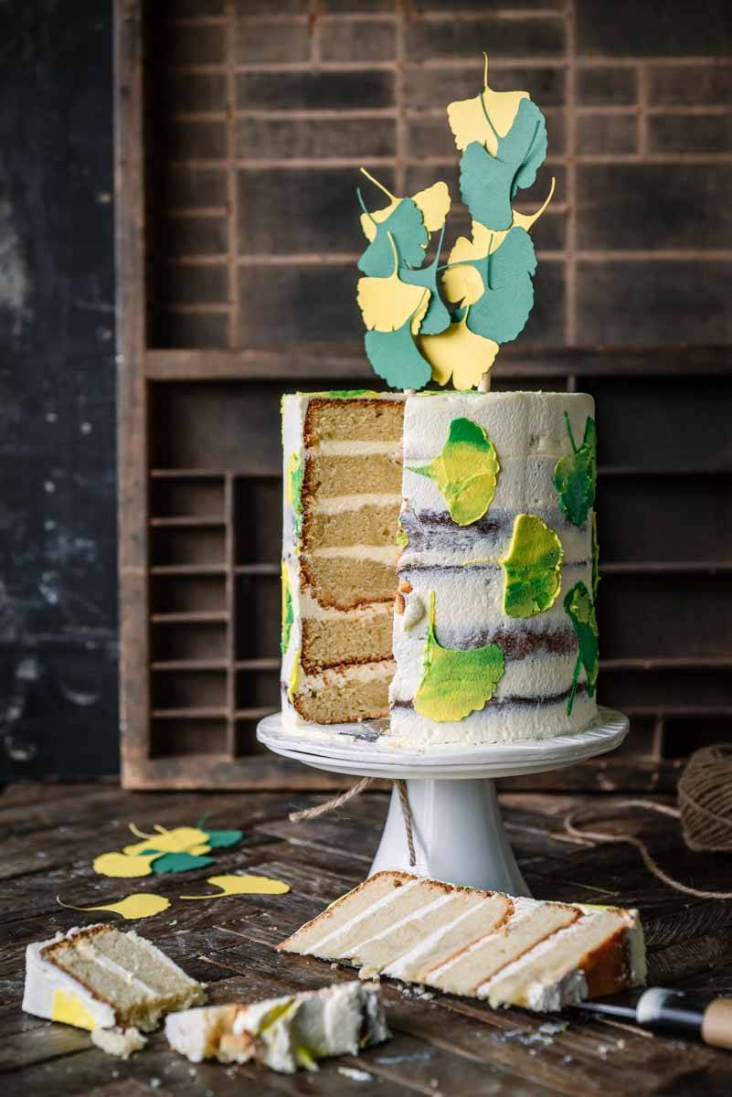 Cardamom and Lime Ginkgo Leaf Cake | Chew Town Food Blog
