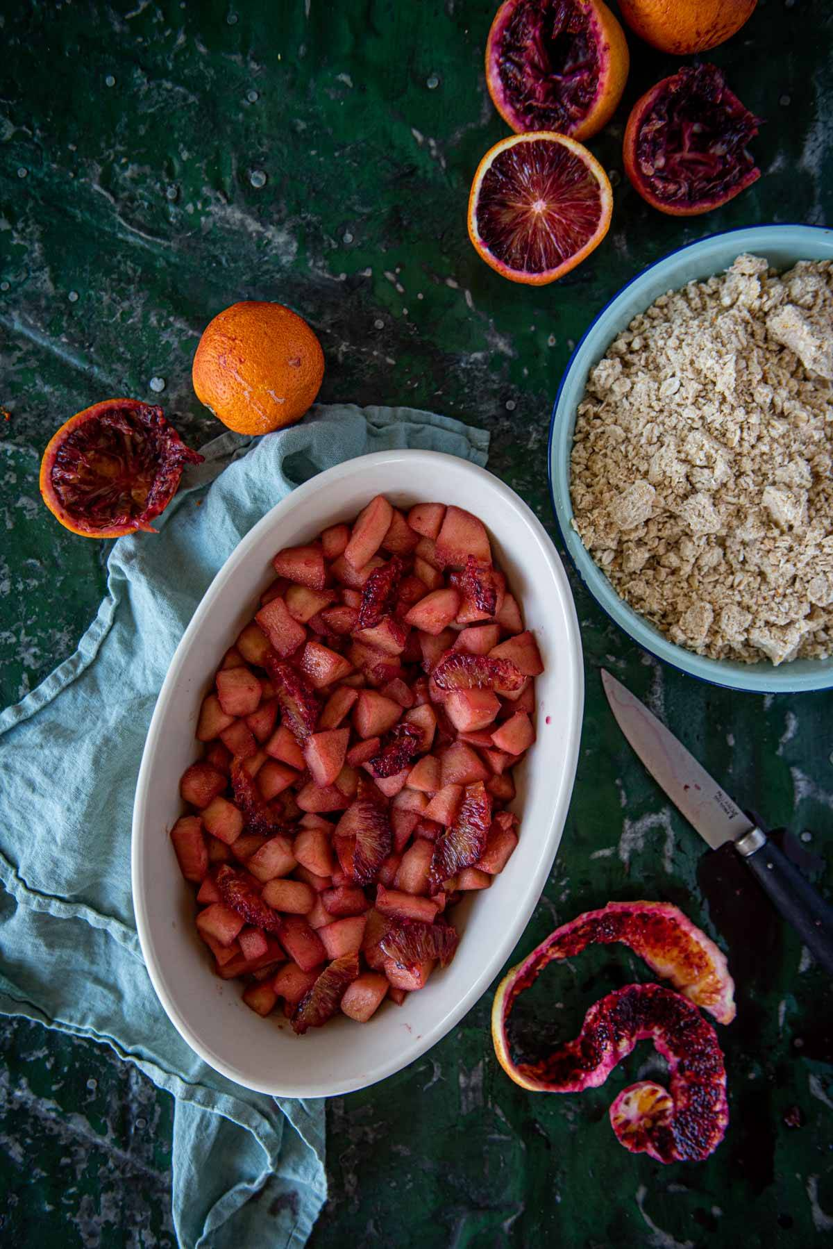 Blood Orange and Apples Crumble | Chew Town Food Blog
